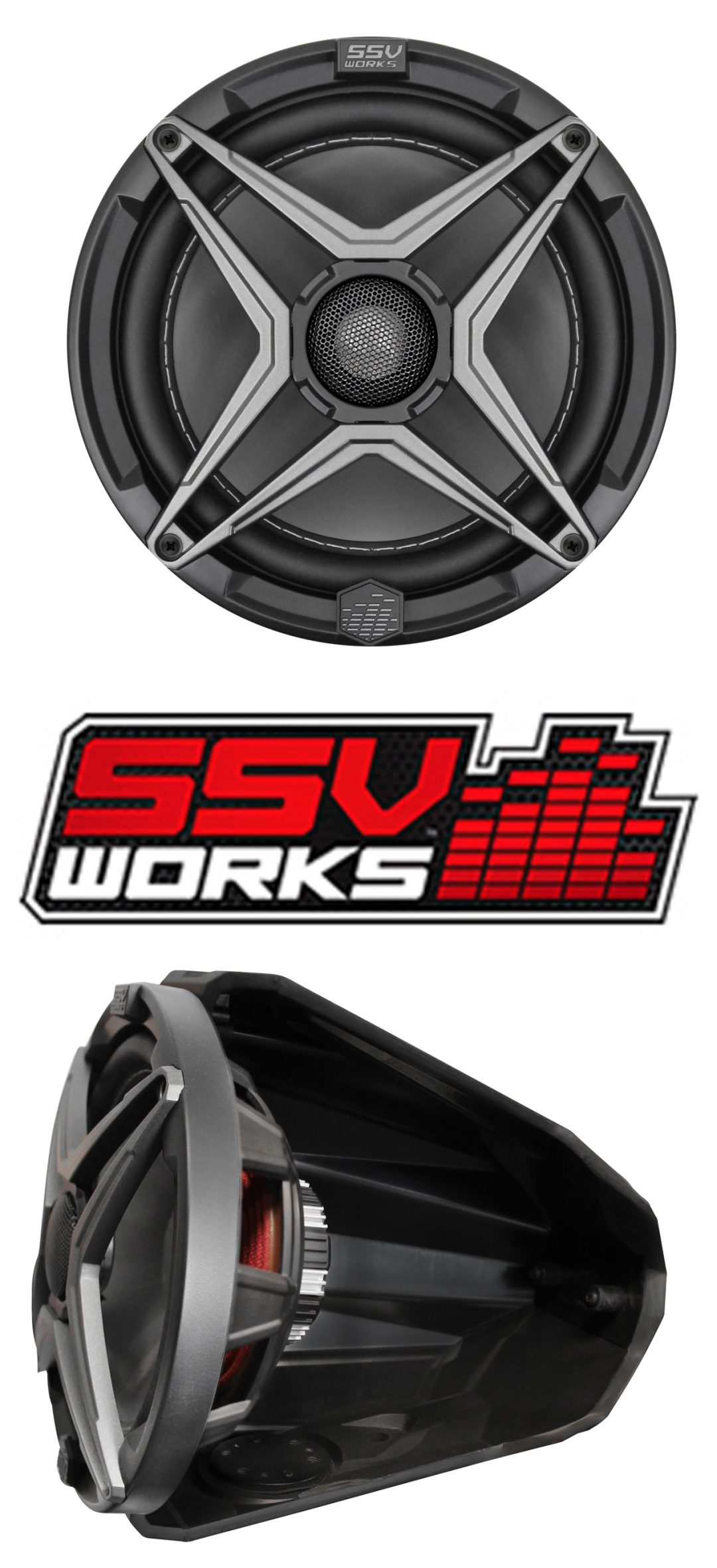 SSV Works 8-Inch Powersports Speaker
